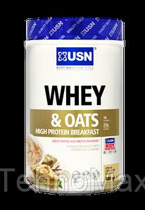 Заменитель питания USN Whey & Oats (800 g marshmallow cookie) срок 09.17