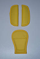 Накладки на ремни безопасности желтый