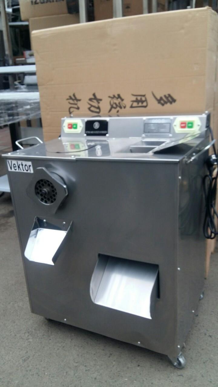 Мясорубка слайсер промышленная (два в одном) Vektor- DGQ-D 333 кг/час