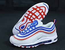 Кроссовки мужские Найк Nike Air Max 97 White Blue Red, фото 3