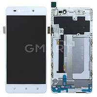 Дисплей Lenovo S90 белый (LCD экран, тачскрин, стекло, рамка в сборе), Дисплей Lenovo S90 білий (LCD екран, тачскрін, скло, рамка в зборі)