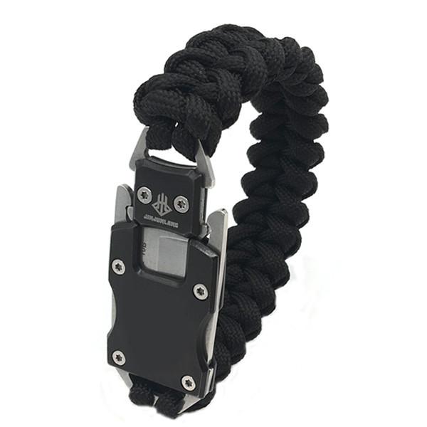 На открытом воздухе для выживания Многофункциональный EDC нож Gadget Парашютный веревочный браслет Удобный для чрезвычайной ситуации - 1TopShop
