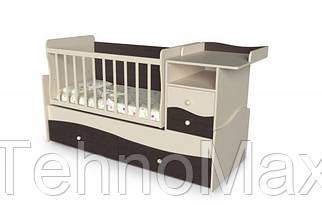 Детская кровать трансформер Волна 2 Венге + слоновая кость