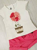 Костюм летний для девочки (футболка-шорты) 1 год Турция