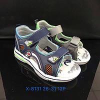 Детские сандалии с задником и на липучках для мальчиков оптом Размеры 26-31 микс