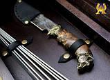 """VIP-Набір для шашлику """"Бівак"""" в кейсі з дерева, фото 4"""