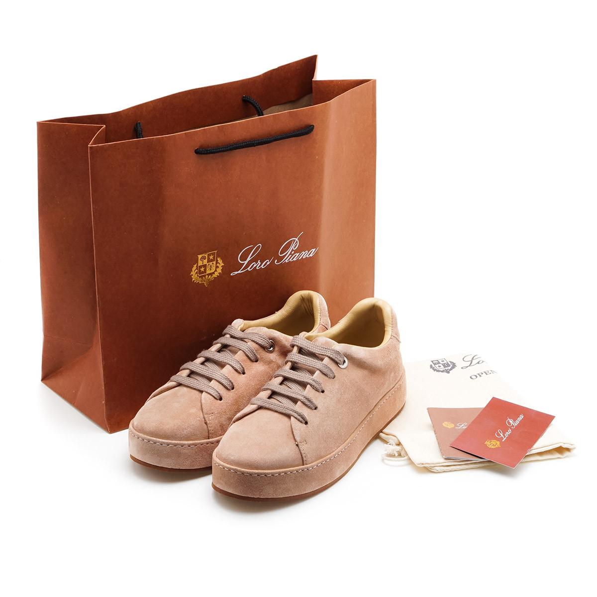 Натуральные женские весение  ботинки Loro Piana