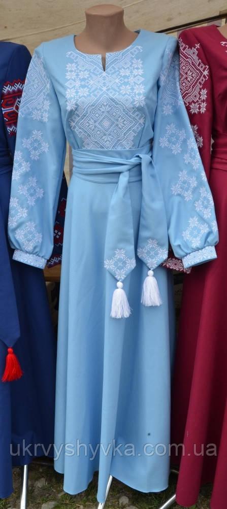 """Вишиванка плаття """"Загадка"""" голубе"""