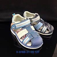 Детские закрытые сандалии с задником и на липучках для мальчиков оптом Размеры 21-26 микс