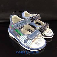 Детские ортопедические сандалии с задником и на липучках для мальчиков оптом Размеры 21-26 микс
