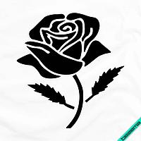 Термоперевод на трехнитку Роза [Свой размер и материалы в ассортименте]