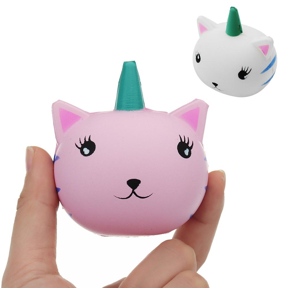 Unicorn Кот Squishy 7.1 * 6.2CM Slow Rising Soft Коллекция Подарочная Декор Игрушка - 1TopShop