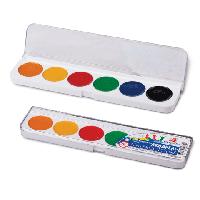 """Краска акварель """"Классика"""" 6 цветов ЛУЧ в пластиковой упаковке с прозрачной крышкой"""