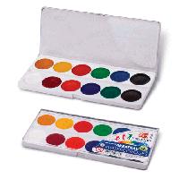 """Краска акварель """"Классика"""" 12 цветов Луч в пластиковой упаковке с прозрачной крышкой"""