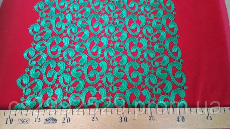 Кружево макраме завитки декоративные. Кружево макраме 20 метров, зеленый, фото 2