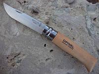 Нож Opinel (опинель) Inox Natural №8 VRI бук (123080), фото 1
