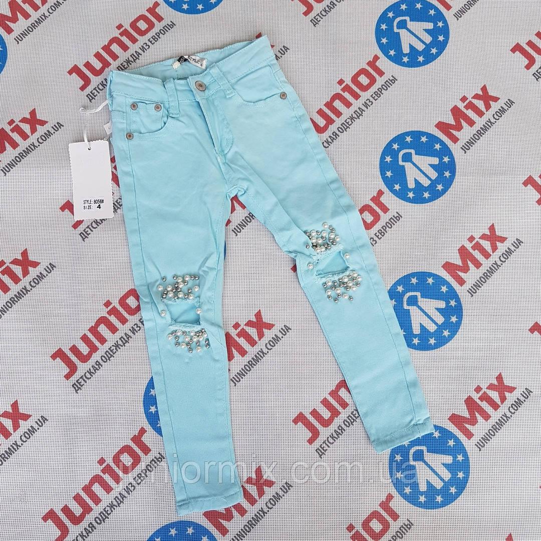 Подростковые котоновые цветные брюки для девочек оптом NOVO STYLE