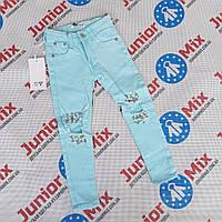 Подростковые котоновые цветные брюки для девочек оптом NOVO STYLE, фото 1