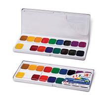 """Краска акварель Луч """"Классика"""" 18 цветов в пластиковой упаковке с прозрачной крышкой"""