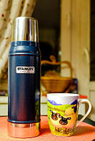 Термос темно-синий Classic 0,75 Stanley (Стенли) 10-01612-010, фото 1