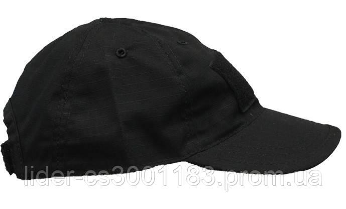 Бейсболка (кепка) PoliCotton Ripstop Black (C02)