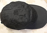 Бейсболка (кепка) PoliCotton Ripstop Black (C02), фото 7