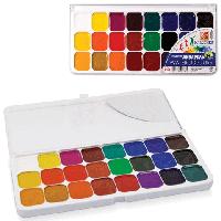 """Краска акварель Луч """"Классика"""" 24 цвета в пластиковой упаковке с прозрачной крышкой"""