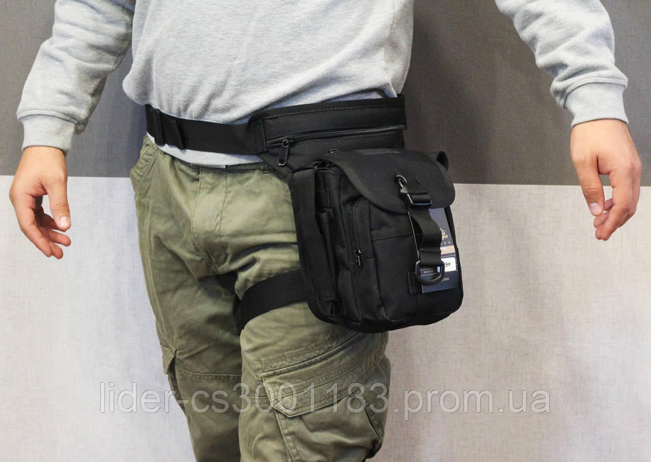 Тактическая универсальная (набедренная) сумка Swat Black