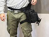 Тактическая универсальная (набедренная) сумка Swat Black, фото 2