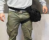 Тактическая универсальная (набедренная) сумка Swat Black, фото 3
