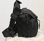 Тактическая универсальная (набедренная) сумка Swat Black, фото 6