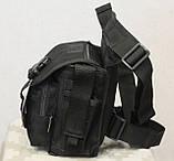 Тактическая универсальная (набедренная) сумка Swat Black, фото 7