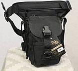 Тактическая универсальная (набедренная) сумка Swat Black, фото 9