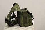 Тактическая универсальная (набедренная) сумка SWAT Olive (229-olive), фото 6