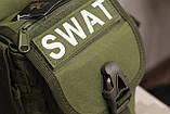 Тактическая универсальная (набедренная) сумка SWAT Olive (229-olive), фото 7
