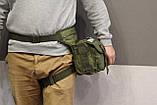 Тактическая универсальная (набедренная) сумка SWAT Olive (229-olive), фото 8