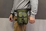 Тактическая универсальная (набедренная) сумка SWAT Olive (229-olive), фото 9