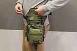 Тактическая универсальная (набедренная) сумка SWAT Olive (229-olive), фото 10