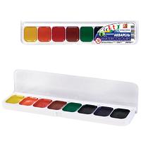 """Краска акварель """"Классика"""" 8 цветов Луч в пластиковой упаковке с прозрачной крышкой"""