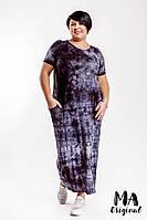Платье большого размера / вискоза / Украина 7-2-905, фото 1