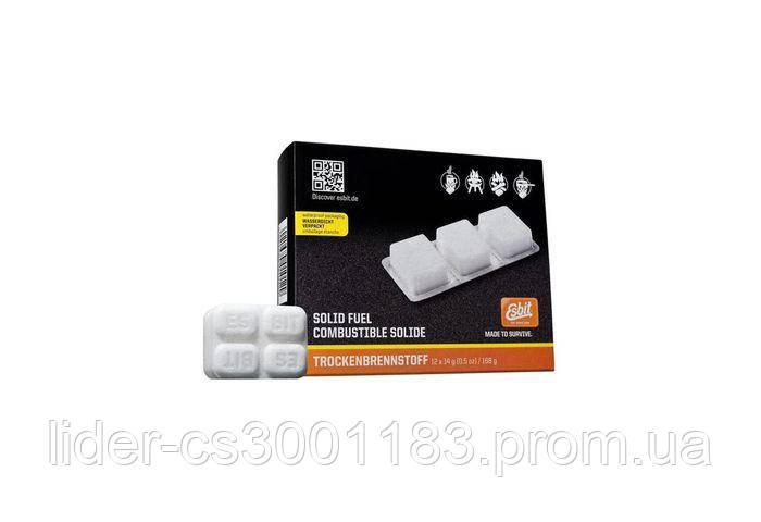 Твердое топливо (сухой спирт) таблетированное Esbit 12 x 14гр