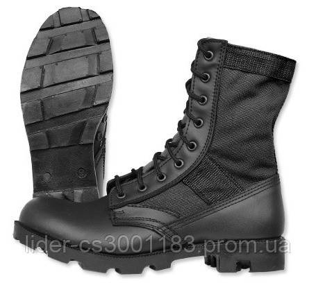 Тактические ботинки (берцы) US MIL-TEC Jungle Panama Tropical Boots Black 12826002