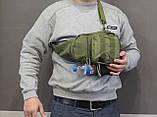 Тактическая, штурмовая, военная, универсальная, городская сумка на 5-6 литров с системой M.O.L.L.E  s4 (олива), фото 2