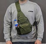 Тактическая, штурмовая, военная, универсальная, городская сумка на 5-6 литров с системой M.O.L.L.E  s4 (олива), фото 4