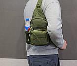 Тактическая, штурмовая, военная, универсальная, городская сумка на 5-6 литров с системой M.O.L.L.E  s4 (олива), фото 5
