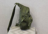 Тактическая, штурмовая, военная, универсальная, городская сумка на 5-6 литров с системой M.O.L.L.E  s4 (олива), фото 8