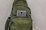 Тактическая, штурмовая, военная, универсальная, городская сумка на 5-6 литров с системой M.O.L.L.E  s4 (олива), фото 9