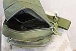 Тактическая, штурмовая, военная, универсальная, городская сумка на 5-6 литров с системой M.O.L.L.E  s4 (олива), фото 10