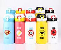 Термокружка для детей супергерои Super Heroes