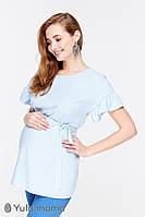 Легкая блузка для беременных и кормления MARION BL-29.031, голубая*, фото 1
